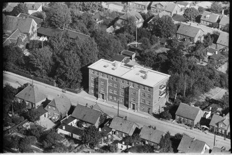 Tingvej. Haslev. 1939. Foto Sylvest Jensen Luftfoto; Det Kongelige Bibliotek.
